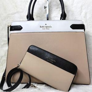 NWT kate spade 2 Set LG 3in1 Purse Bag + Wallet